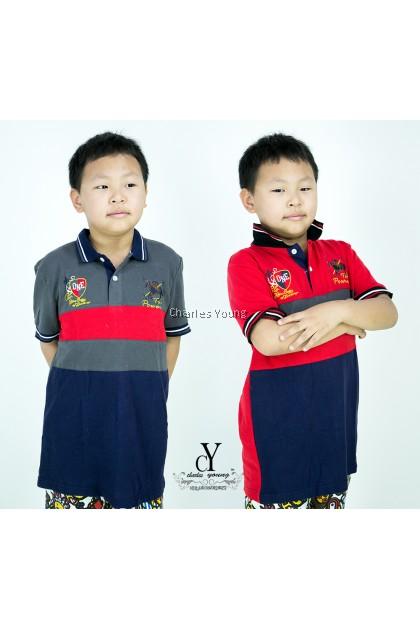 CY 101856 CHILDREN KID CASUAL POLO COLAR SHIRT BIG / T.SHIRT POLO BUDAK