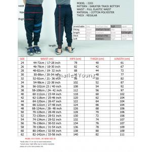 CY 2203 KIDS TRACK BOTTOM SPORT TREKKING PANT / SELUAR SUKAN BUDAK GYM PANJANG