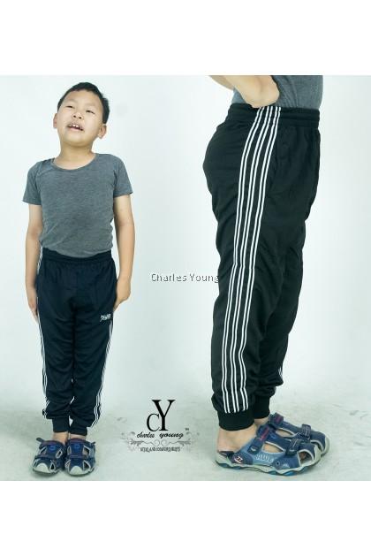 CY 2228 KIDS TRACK BOTTOM SPORT TREKKING PANT / SELUAR SUKAN BUDAK GYM PANJANG