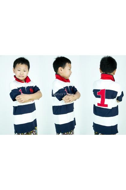 CY A10030 CHILDREN KID CASUAL POLO COLAR SHIRT BIG / T.SHIRT POLO BUDAK