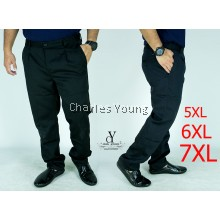 CY 60627 PLUS BIG SIZE CASUAL EASY FIT COTTON  OFFICE TROUSER PANT / SELUAR SIZE BESAR OFFICE