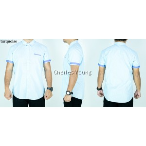 CY 8006 PLUS SIZE CASUAL MAN OFFICE SHIRT SLIM FIT SKINNY DESIGN / KEMEJA OFFICE SIZE BESAR
