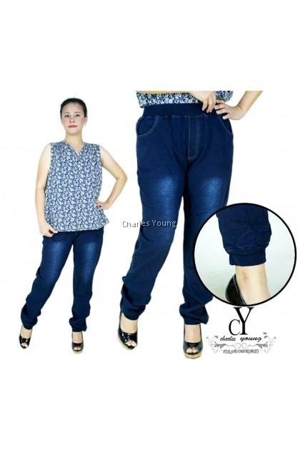 CY 239 PLUS BIG SIZE WOMAN JOGGER LONG PANTS  / SELUAR  JEANS SIZE BESAR PEREMPUAN DEWASA