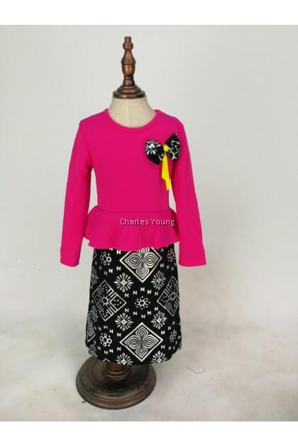 CY 1101 GIRL DRESS SONGKET / GAUN SONGKET BDK PEREMPUAN L/S LENGAN PANJANG