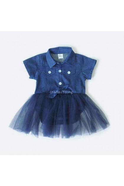 CY 154416 ROMPER BABY GIRL INBEBE LEISE SHORT SLEEVE