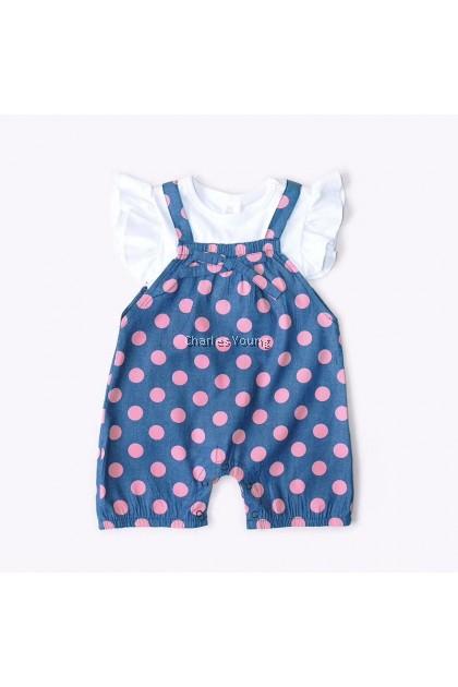 CY 154422 ROMPER BABY GIRL INBEBE DOTDOT