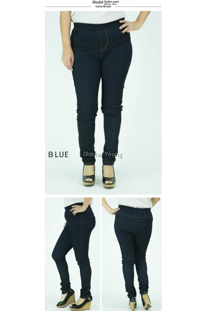 CY 8822 PLUS SIZE WOMAN CASUAL STRECTAHBLE LONG PANTS BIG  SELUAR PANJANG SIZE BESAR  XXL 3XL 4XL ll