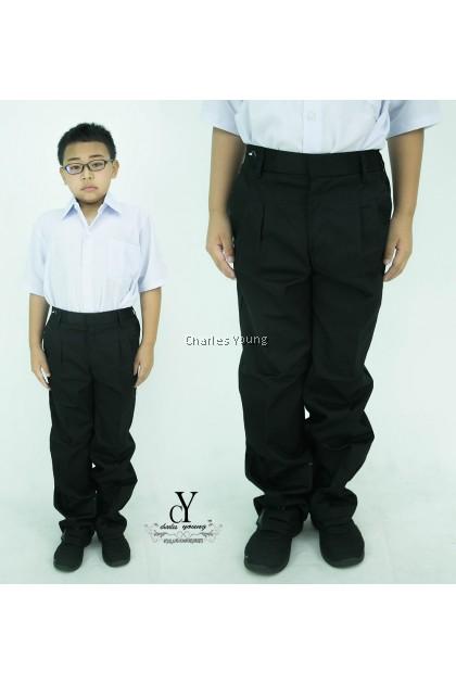 CY 8054BK SELUAR PANJANG HITAM SEKOLAH UNIFORM  / SCHOOL LONG BLACK PANTS / 小学黑裤