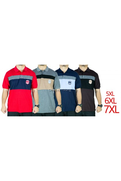 CY 13224 PLUS SIZE MAN CASUAL POLO COLAR SHIRT BIG SIZE / SHIRT COLAR SIZE BESAR 3XL 4XL 5XL 6XL 7XL