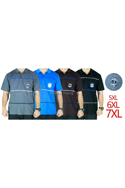 CY 64841 PLUS SIZE MAN CASUAL POLO COLAR SHIRT BIG SIZE / SHIRT COLAR SIZE BESAR 3XL 4XL 5XL 6XL 7XL