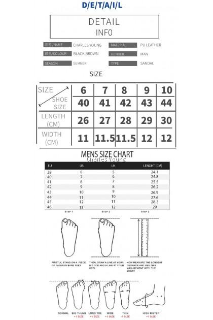 CY 779-1 SIGNATURE MEN BREATHABLE SLIP ON COMFORT SANDAL PU LEATHER / SELIPAR LELAKI  DEWASA