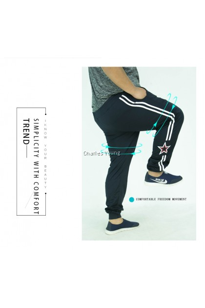 CY 2222 TRACK BOTTOM SUIT SPORT GYM RUNNING EXERCISE TREKKING PANT / SELUAR SUKAN  GYM PANJANG / BIG SIZE SPORT PANT