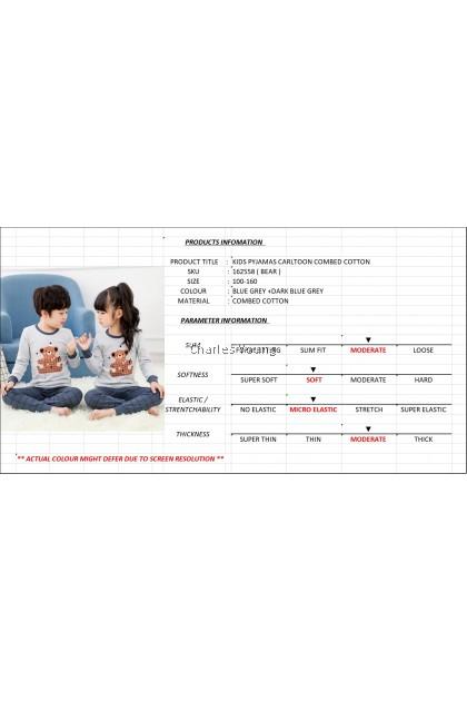 CY 162558 CHILDREN SUIT PASANG BUDAK PYJAMAS BEAR 100-160