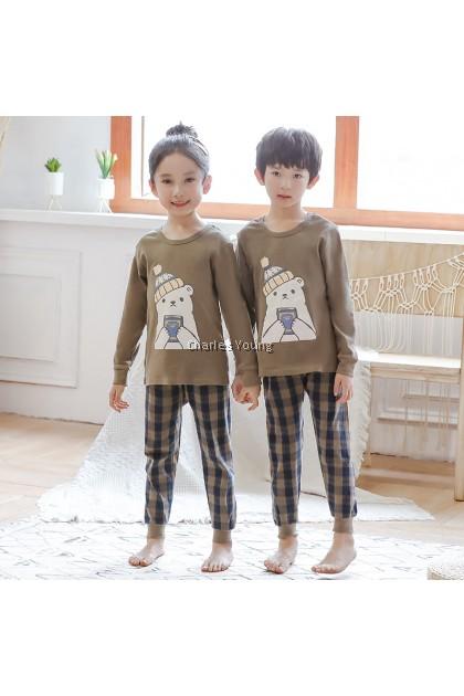 CY 162575 CHILDREN SUIT PASANG BUDAK PYJAMAS CHRIS BEAR 100-160