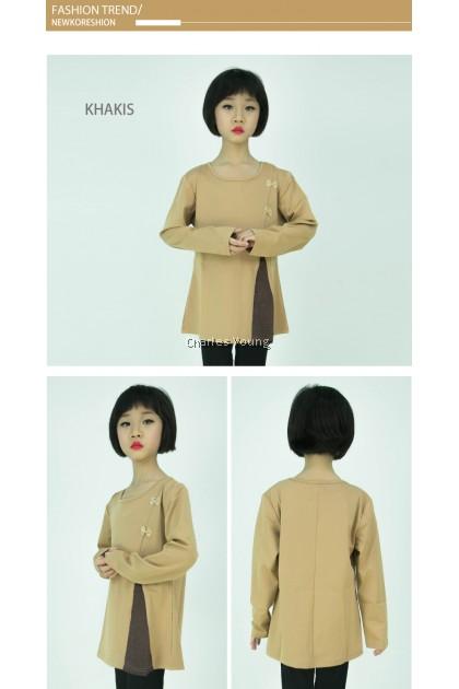 CY W18-489 KOREA STYLE MUSLIMAH BLOUSE SHIRT KIDS CHILDREN / BLOUSE BUDAK PEREMPUAN BAJU KURUNG