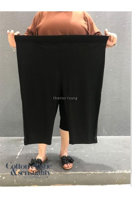 CY 4316 WOMAN CASUAL SHORT PANTS BIG PLUS SIZE /  SELUAR PENDEK SIZE BESAR  /  WOMAN CROPPED PANTS 7XL 8XL 9XL