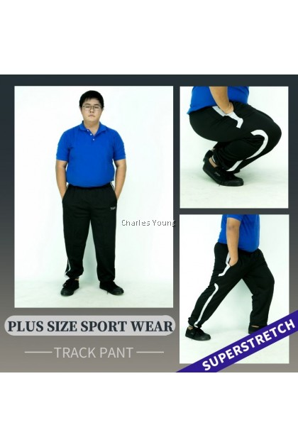 CY 9123 TRACK BOTTOM SUIT SPORT GYM RUNNING EXERCISE TREKKING PANT / SELUAR SUKAN  GYM PANJANG / BIG SIZE SPORT PANT / MAN JOGGER PANT