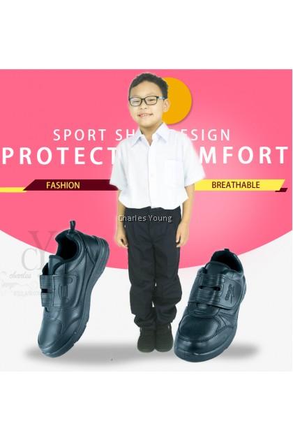 100% Original Asadi 6551 Black Shoe   Kasut Sekolah Asadi Hitam