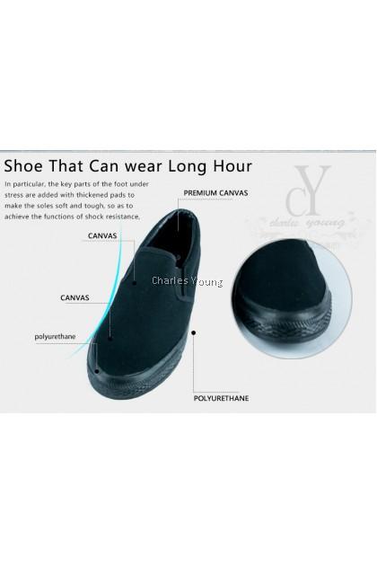100% Original LINE 7 6617 Black Shoe | Kasut Sekolah LINE 7  Hitam / Kasut Sekolah Hitam