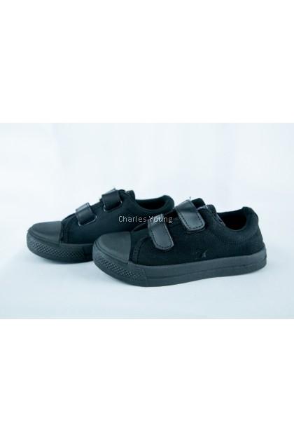 100% Original LINE 7 JL22 Black Shoe | Kasut Sekolah LINE 7  Hitam / Kasut Sekolah Hitam