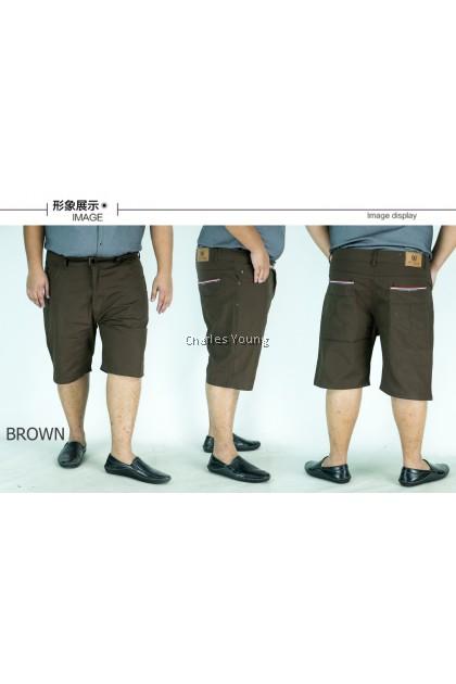 CY 5083 BLACK / BROWN PLUS SIZE MAN CASUAL SHORT  PANT  / SELUAR SIZE BESAR / BIG SIZE SHORT PANT 7XL 8XL