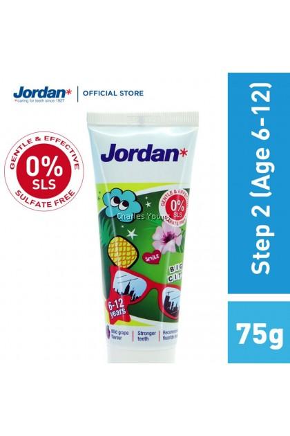 Jordan Step 2 New Permanent Teeth Toothpaste 75g (6-12Years)