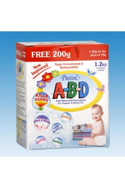 Pureen Anti Bacterial Powder Detergent A-B-D (1KG+Free 200g)