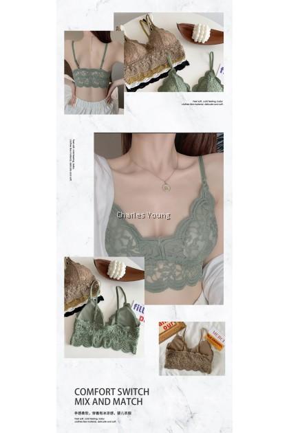 CY 212 High Quality Women Seamless Sport Underwear Gym Yoga Wireless Bra Top Bra Removable Pad Singlet / 无钢圈吊带女背心女