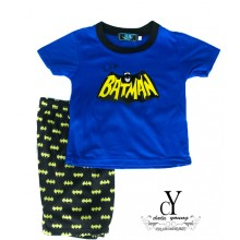 CY-3722,KID CHILDREN SUPERHERO SUIT SHIRT PANT DARK KNIGHT
