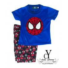 CY-8937 KID CHILDREN SUPERHERO SUIT SHIRT PANT SPIDERMAN AVENGERS