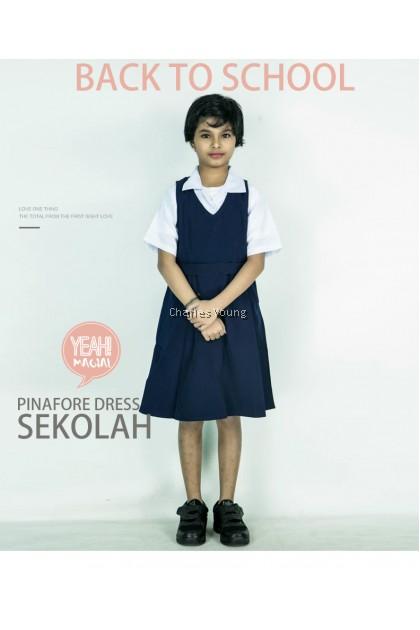 CY 2612 Gaun Pinafore Sekolah Rendah Sjkc Sjkt / School Pinafore Dress / Shirt and Dress