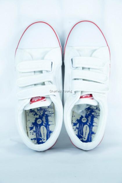 100% Original PALLAS 0166 Black Shoe | Kasut Sekolah PALLAS  Hitam  Putih / Pallas Jazz Single Velcro Strap / Nurse Shoe