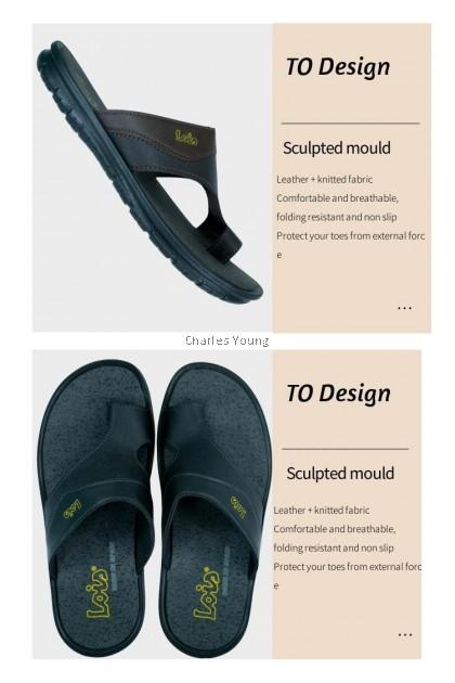 CY  2066 100%  Original LOIS Genuine Leather Sandal / Sandal Kulit Lelaki Lois / Slipper Kulit