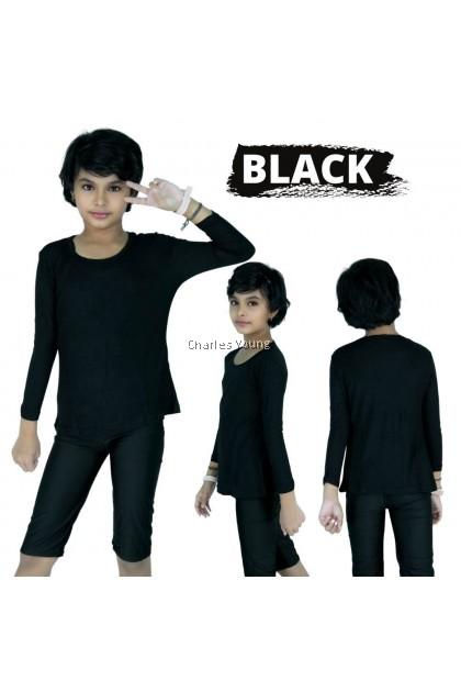 CY 909 Inner budak  Baju Muslimah Lengan Panjang Perempuan kids / Memeri / Cotton / Kain Sejuk
