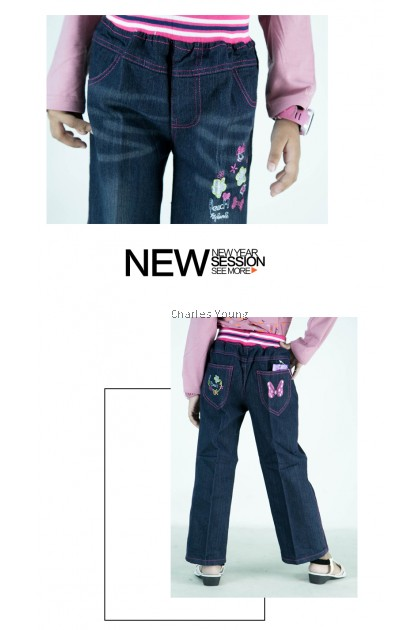 CY 4203 Children's Clothing Jeans Spring Children's Trousers Pant Girl Jeans / Seluar Jeans Budak Perempuan