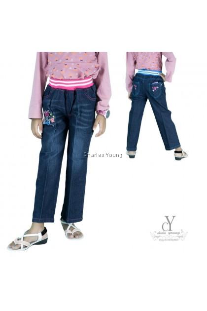 CY 7417 Children's Clothing Jeans Spring Children's Trousers Pant Girl Jeans / Seluar Jeans Budak Perempuan