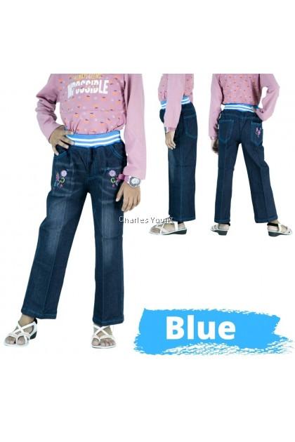 CY 50378 Children's Clothing Jeans Spring Children's Trousers Pant Girl Jeans / Seluar Jeans Budak Perempuan