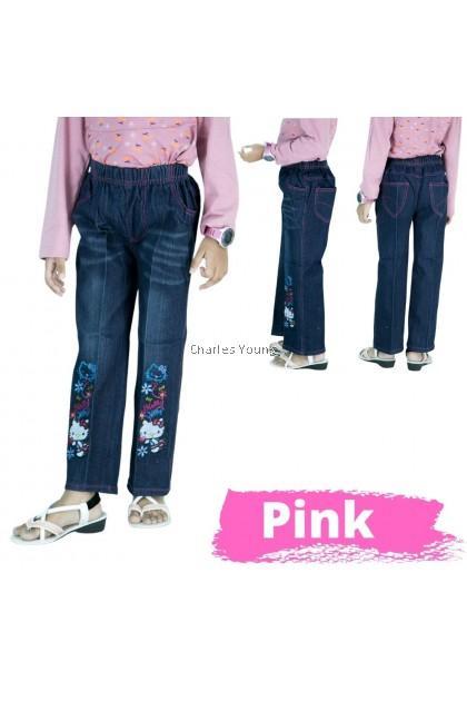 CY 64304 Children's Clothing Jeans Spring Children's Trousers Pant Girl Jeans / Seluar Jeans Budak Perempuan