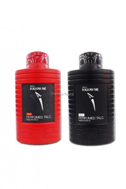 Follow Me Men Perfumed Talc Black / Red  ( 160g )