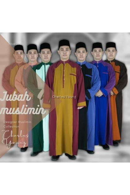 CY 367B JUBAH PANJANG KURTA MUSLIMIN ISLAM DEWASA LELAKI / Jubah Tahfiz DEWASA