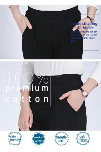 CY  4500 Plus Size  Woman Designer Casual Office Long Pant / Seluar Panjang Ofis Perempuan / SLACK PANT /SELUAR SLACK