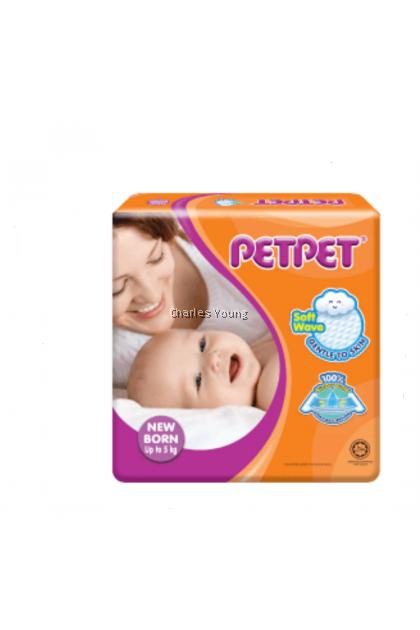 PETPET Newborn Diaper Up to 5kg (22pcs)