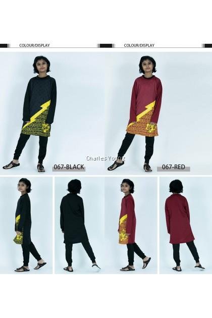 CY 002 Children Gym Suit Fitness Shirts Sportwear / Pasang Baju Muslimah Malaysia / Baju Sukan Muslimah Budak / Blouse Sukan Budak / Jersey Malaysia