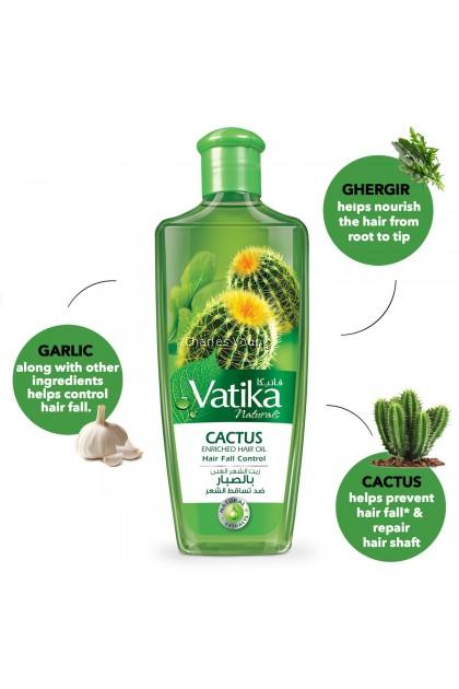 VATIKA Natural Cactus Enriched Hair Oil Hair Fall Control (200ml)