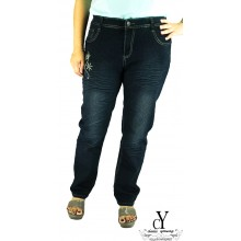 CY-7039 WOMAN CASUAL DENIM JEANS PANTS,BIG SIZE SELUAR SIZE BESAR XXXL XXXXL