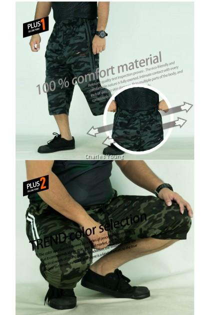 CY 5601A  ARMY DESIGN  FUTSAL KPOP EXERCISE GYM TRAINING WEAR SHORT PANT  / SELUAR PENDEK ASKAR / SELUAR BOLA DEWASA / SELUAR JC / 5XL 6XL 7XL
