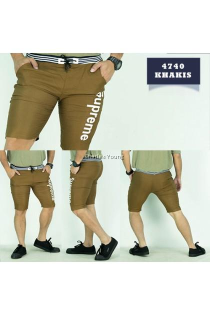 CY 4740 Champion Casual Fashion Men Skinny Runway Straight Short Slim Fit Pant / Seluar Casual Lelaki