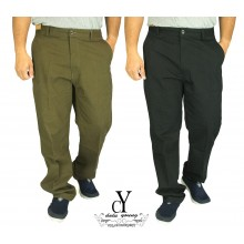CY C9043 MAN CARGO LONG CASUAL OFFICE COTTON PANT PLUS SZE BIG SIZE