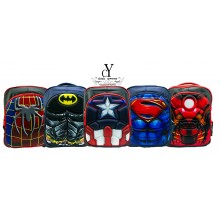 CY 016 SCHOOL BAG SEKOLAH CARTOON 3D DISNEY MARVEL SUPERHERO IRONMAN CAPTAIN AMERICA SPIDERMAN