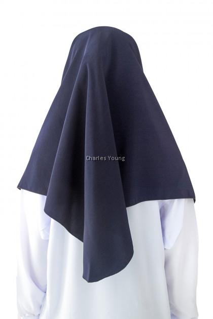 CY  122017 (BIRU GELAP)  PAKAIAN TUDUNG HIJAB SEKOLAH KOSHIBO SCHOOL UNIFORM DARK BLUE